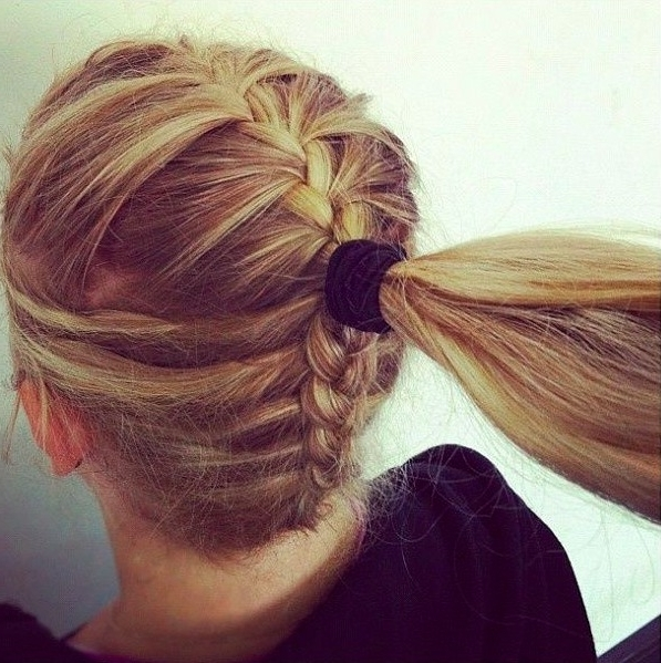 Different Braided Hairstyle Ideas – Hair World Magazine Pertaining To French Braid Hairstyles With Ponytail (Gallery 11 of 25)