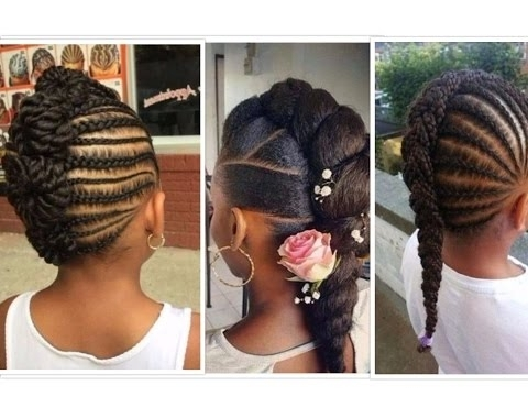 Different Mohawk Styles For Kids – Youtube With Regard To Braided Ponytail Mohawk Hairstyles (View 25 of 25)