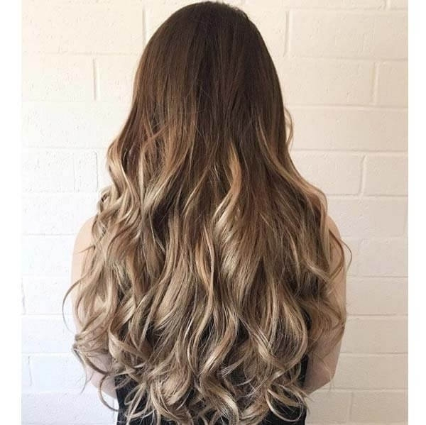 Dirty Blonde Clip In Human Hair Extensions, 100% Triple Wefted Remy Hair Inside Cool Dirty Blonde Balayage Hairstyles (Gallery 24 of 25)