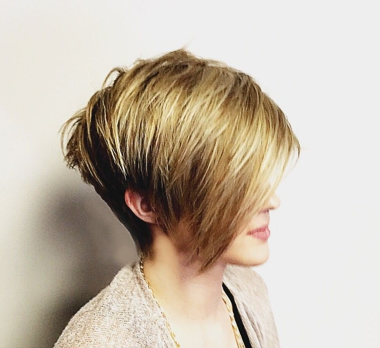 Disconnected Pixie. Cropped In The Nape, Long Sideswept Fringe For Most Current Disconnected Blonde Balayage Pixie Hairstyles (Gallery 16 of 25)