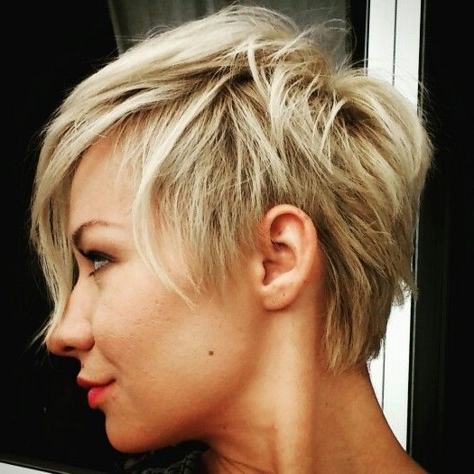 Disconnected Pixie | Pixie & Hawks | Pinterest | Pixies, Short Hair Inside Most Up To Date Disconnected Blonde Balayage Pixie Hairstyles (Gallery 7 of 25)