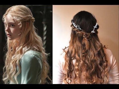 Disney's Princess Aurora Twistback Hair Tutorial- Maleficent - Youtube with regard to Princess Tie Ponytail Hairstyles