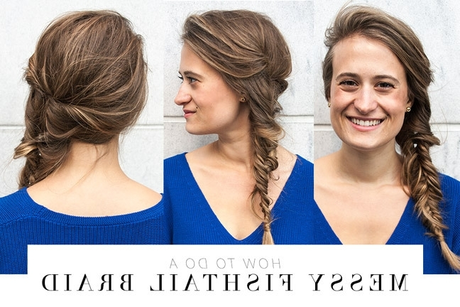 Diy Braid Tutorial: Messy Fishtail Braid | Youbeauty Intended For Messy Volumized Fishtail Hairstyles (Gallery 15 of 25)