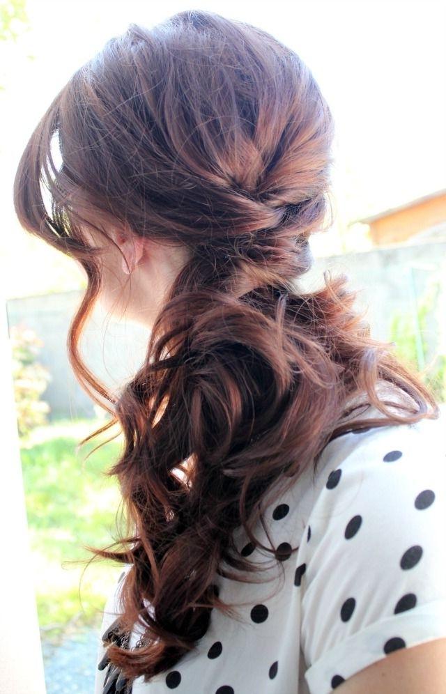 Diy Bridal Hairstyle | Side Swept, Wedding And Hair Style Intended For Classic Bridesmaid Ponytail Hairstyles (Gallery 8 of 25)