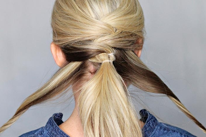 Diy Criss Cross Ponytail Tutorial | Hairstyles, Nail Art, Beauty And Throughout The Criss Cross Ponytail Hairstyles (Gallery 19 of 25)