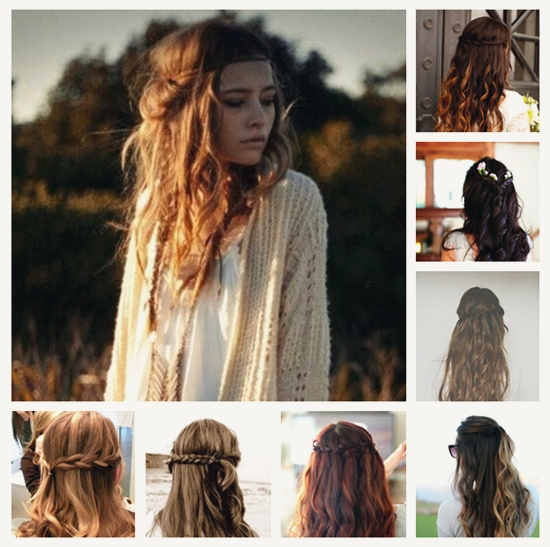 Diy Daily Hairstyles With Wavy Hair Extensions - Vpfashion within Braided Along The Way Hairstyles