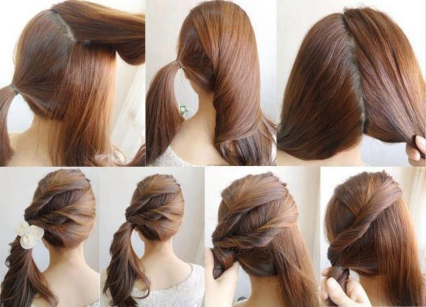 Diy Easy Ponytail Hairstyle Yourself Fashion Tips | Medium Hair With Regard To Ponytail Hairstyles For Layered Hair (View 14 of 25)