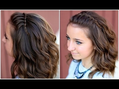 Diy Faux Waterfall Headband | Cute Girls Hairstyles – Youtube In Dyed Simple Ponytail Hairstyles For Second Day Hair (Gallery 22 of 25)