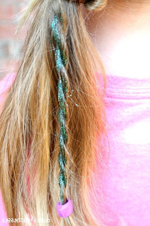 Diy Glitter Hair Spray | Kids Hair Ideas In 2018 | Pinterest within Glitter Ponytail Hairstyles For Concerts And Parties