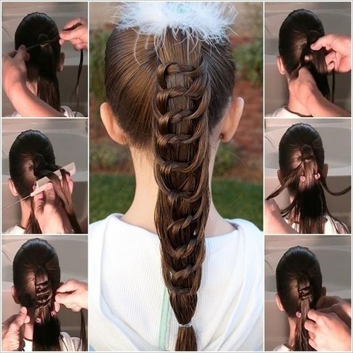 Diy Knotted Ponytail Hairstyle Tutorial | Usefuldiy | Saç Regarding Braided And Knotted Ponytail Hairstyles (View 1 of 25)