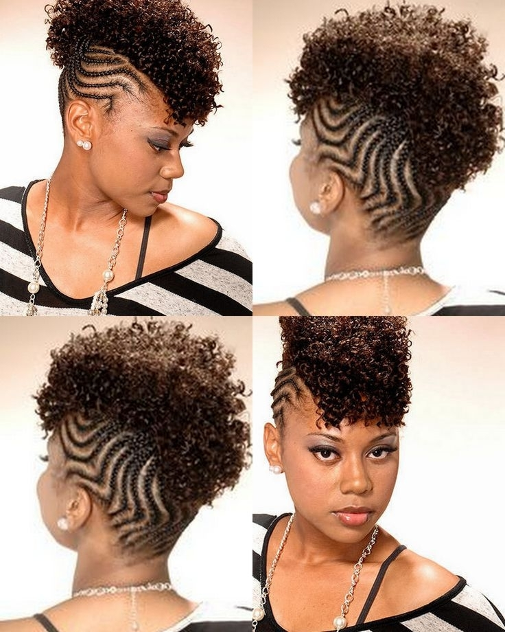 Don't Know What To Do With Your Hair: Check Out This Trendy Ghana Intended For Braided Hawk Hairstyles (Gallery 13 of 25)