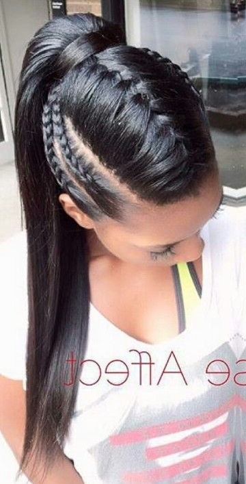 Don't Know What To Do With Your Hair: Check Out This Trendy Ghana regarding Braided Mohawk Pony Hairstyles With Tight Cornrows
