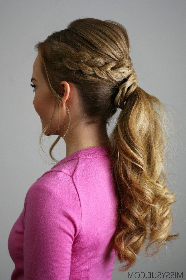 Featured Photo of Double Braided Wrap Around Ponytail Hairstyles