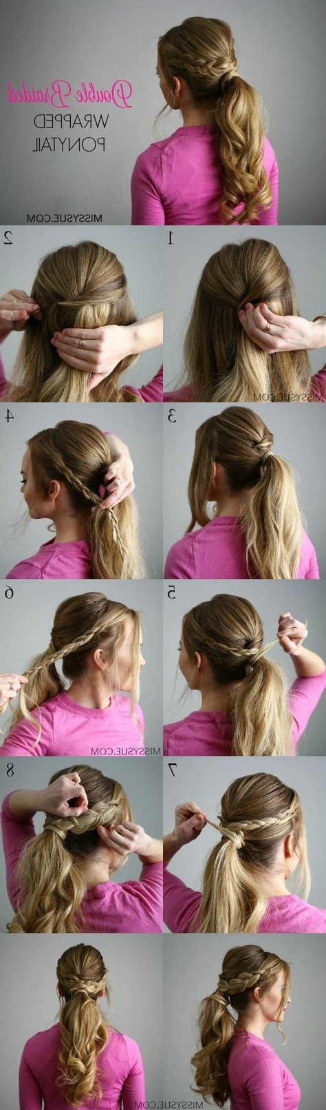 Double Braid Wrapped Ponytail | Hairstyle Ideas | Pinterest | Ponytail Within Double Braided Wrap Around Ponytail Hairstyles (Gallery 12 of 25)