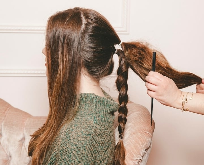Double Braided Ponytail Tutorial | Helloglow.co With Regard To Double Braided Wrap Around Ponytail Hairstyles (Gallery 13 of 25)