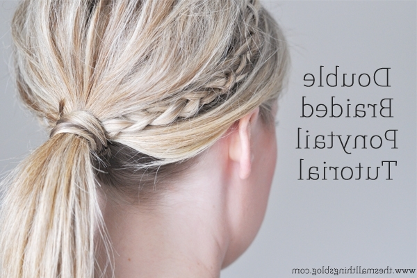 Double Braided Ponytail Tutorial – The Small Things Blog For Double Tied Pony Hairstyles (Gallery 19 of 25)
