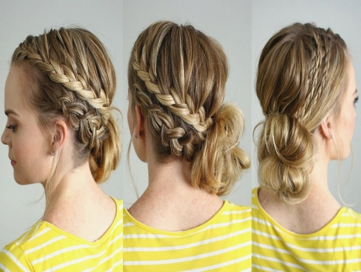 Double Braided Side Bun | Missy Sue – Youtube | Side Bun With Braid Pertaining To Double Braided Hairstyles (Gallery 25 of 25)