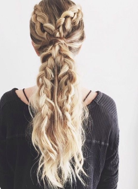 Double Dutch Braid Ponytail | Hairstyles | Pinterest | Double Dutch For Messy Dutch Braid Ponytail Hairstyles (Gallery 7 of 25)
