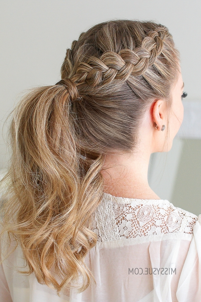Double Dutch Braid Ponytail | Missy Sue Regarding Ponytail Hairstyles With Dutch Braid (Gallery 20 of 25)