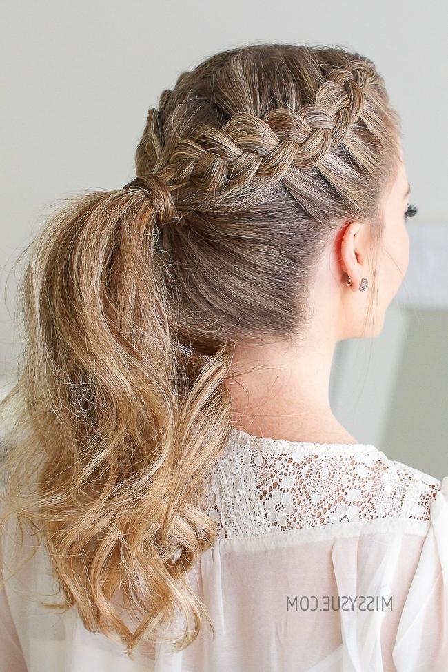 Double Dutch Braid Ponytail | Missy Sue Regarding Ponytail Hairstyles With Dutch Braid (View 20 of 25)