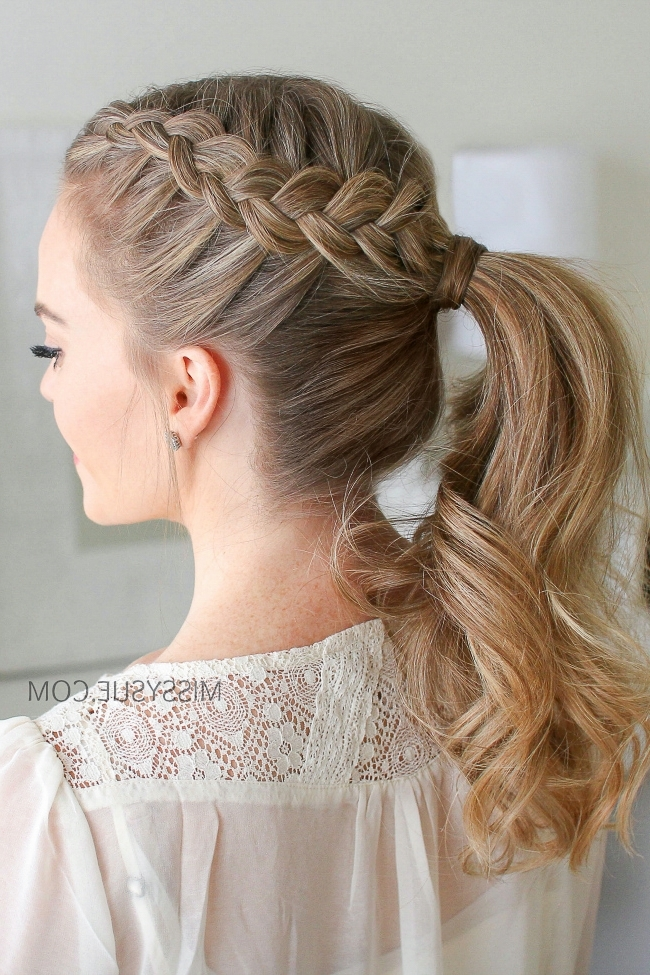 Double Dutch Braid Ponytail | Missy Sue With Regard To Messy Dutch Braid Ponytail Hairstyles (Gallery 8 of 25)