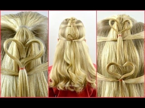 Double Floating Hearts | Valentine's Day Hairstyle | Babes In regarding Double Floating Braid Hairstyles