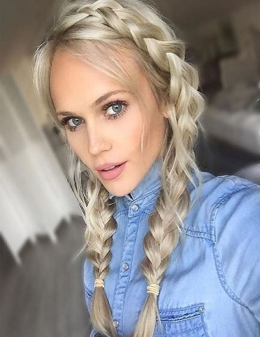 Double French Braids Hairstyle Ideas 2017 – 2018 | Hairstyles 2017 Pertaining To Double Braided Hairstyles (View 9 of 25)