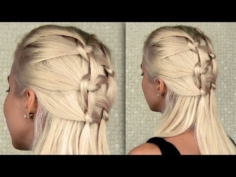 Double Knotted Braid Everyday Half Updo And Ponytail Hairstyle For Within Braided And Knotted Ponytail Hairstyles (Gallery 17 of 25)