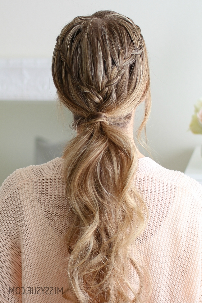 Double Waterfall Ponytail | Missy Sue intended for Cascading Ponytail Hairstyles