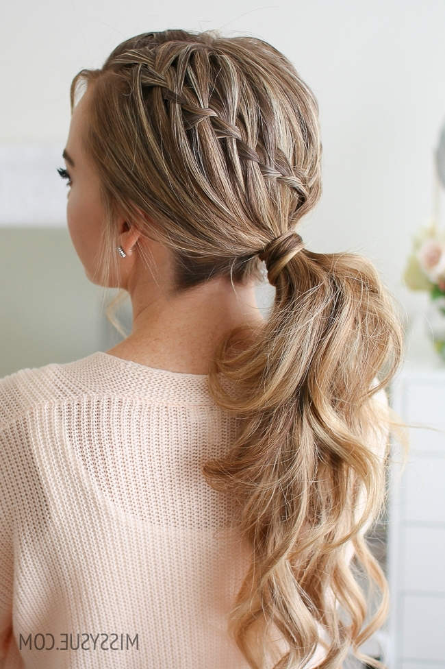 Double Waterfall Ponytail | Missy Sue pertaining to Cascading Ponytail Hairstyles