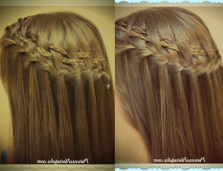 Double Woven Waterfall Braid Tutorial, 2 Braided Hairstyles In Double Floating Braid Hairstyles (Gallery 11 of 25)