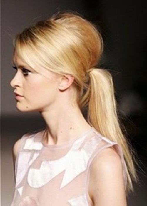 Dream Wedding Girls: Gorgeous Ponytail Hairstyles — Distinctive Pertaining To Bouffant And Braid Ponytail Hairstyles (View 21 of 25)