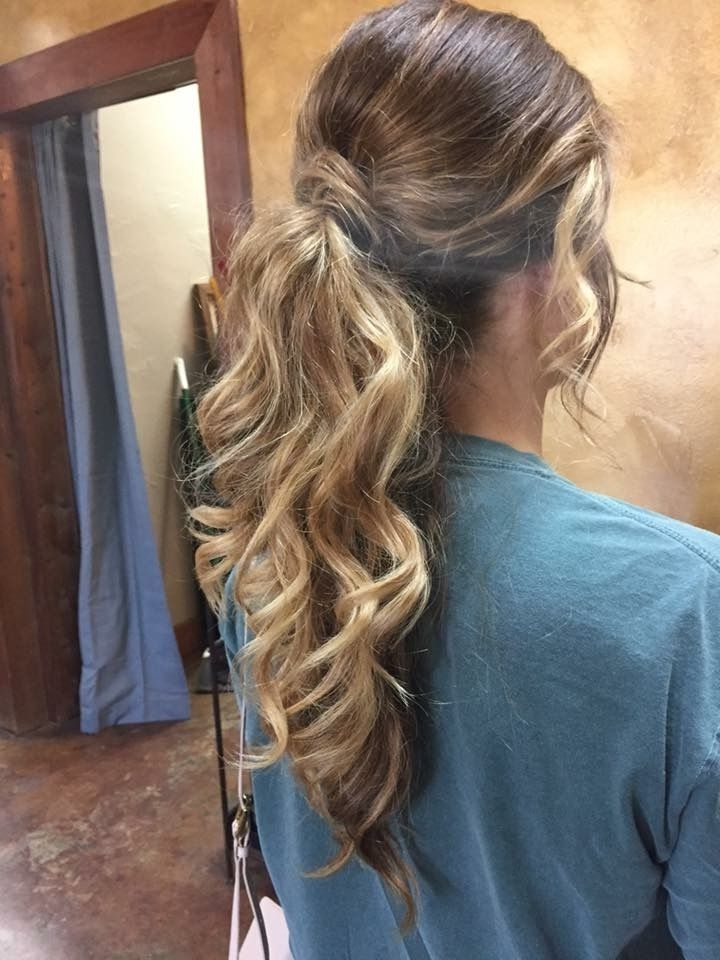 Dressy Ponytails | Hairstyles | Pinterest | Dressy Ponytail within Accessorize Curled Look Ponytail Hairstyles With Bangs