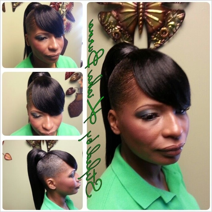 Drop Ponytail With A Swoop Bang | Updos And Pin Ups | Pinterest pertaining to Side-Pony Hairstyles With Swooping Bangs