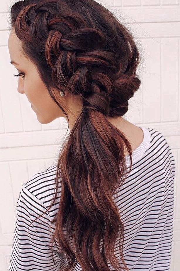 Dutch Braid Ponytail On @hairby.alyssa | Hair Inspiration With Regard To Dutch Inspired Pony Hairstyles (Gallery 6 of 25)