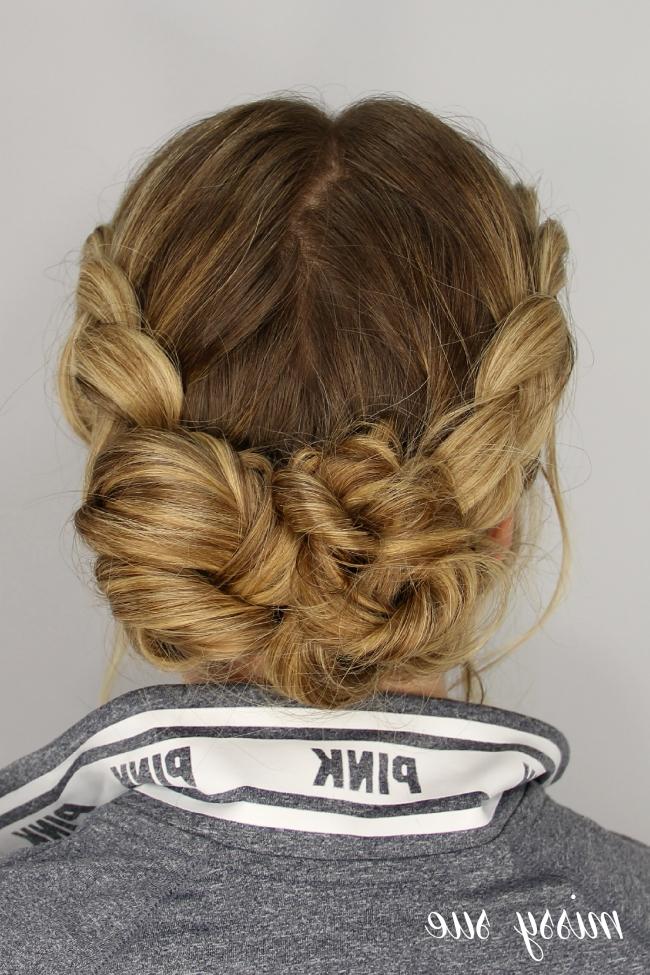 Dutch Braids And Messy Buns Regarding Messy Dutch Braid Ponytail Hairstyles (Gallery 4 of 25)
