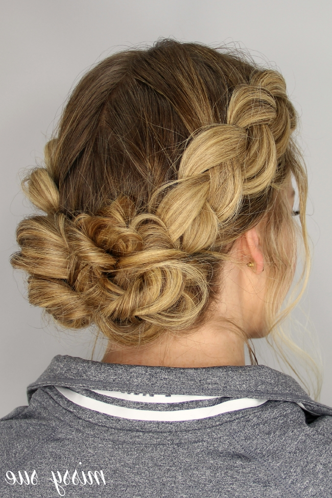 Dutch Braids And Messy Buns With Messy Pony Hairstyles With Lace Braid (Gallery 16 of 25)