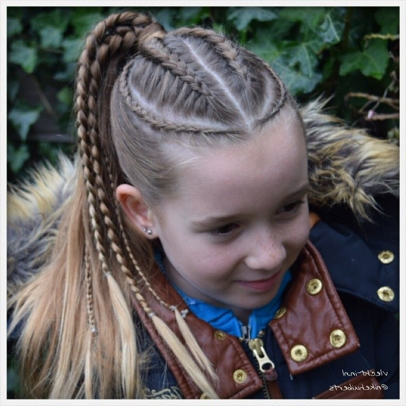 Dutch Braids And Micro Braids Into Ponytail. | ??????? ? ???????? Inside Micro Braid Ponytail Hairstyles (Gallery 2 of 25)