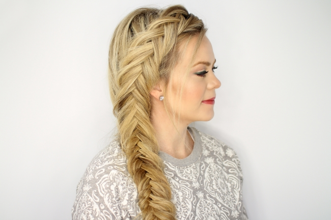 Dutch Fishtail Braid Intended For Wispy Fishtail Hairstyles (View 13 of 25)