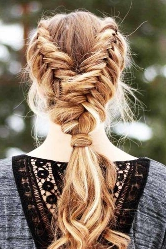 Dutch Fishtail Braids Picture 3 | Fun Hairstyles To Try | Pinterest For Rockstar Fishtail Hairstyles (Gallery 4 of 25)