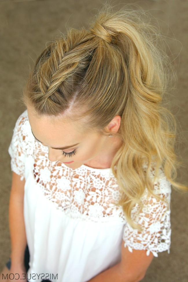 Dutch Fishtail Mohawk Braid | Peinados | Pinterest | Simple In Pony Hairstyles With Accent Braids (Gallery 17 of 25)