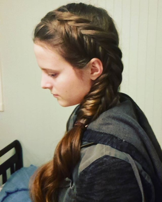 Dutch Fishtail Side Braid Into A Ponytail Inspired With Regard To Dutch Inspired Pony Hairstyles (Gallery 14 of 25)