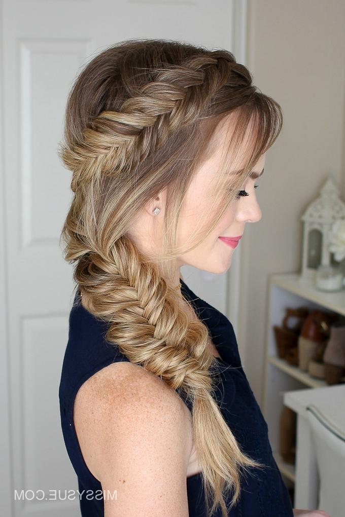Dutch Fishtail Summer Side Braid | Missy Sue Throughout Wispy Fishtail Hairstyles (Gallery 2 of 25)