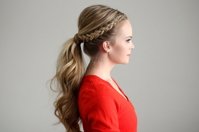 Dutch Lace Braid Ponytail For Dutch Braid Pony Hairstyles (Gallery 11 of 25)