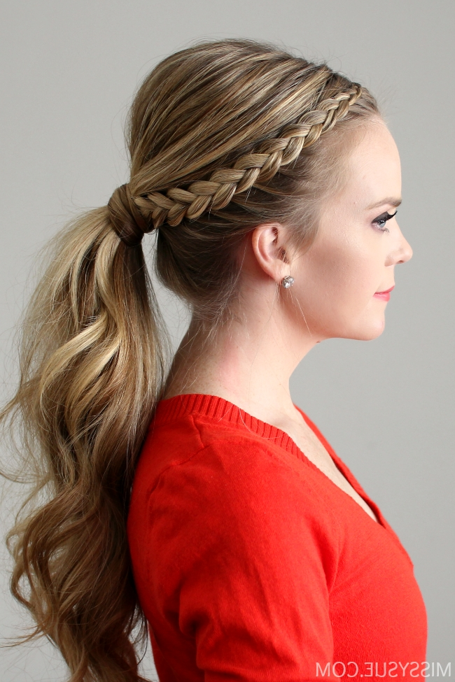 Dutch Lace Braid Ponytail with regard to Dutch-Inspired Pony Hairstyles