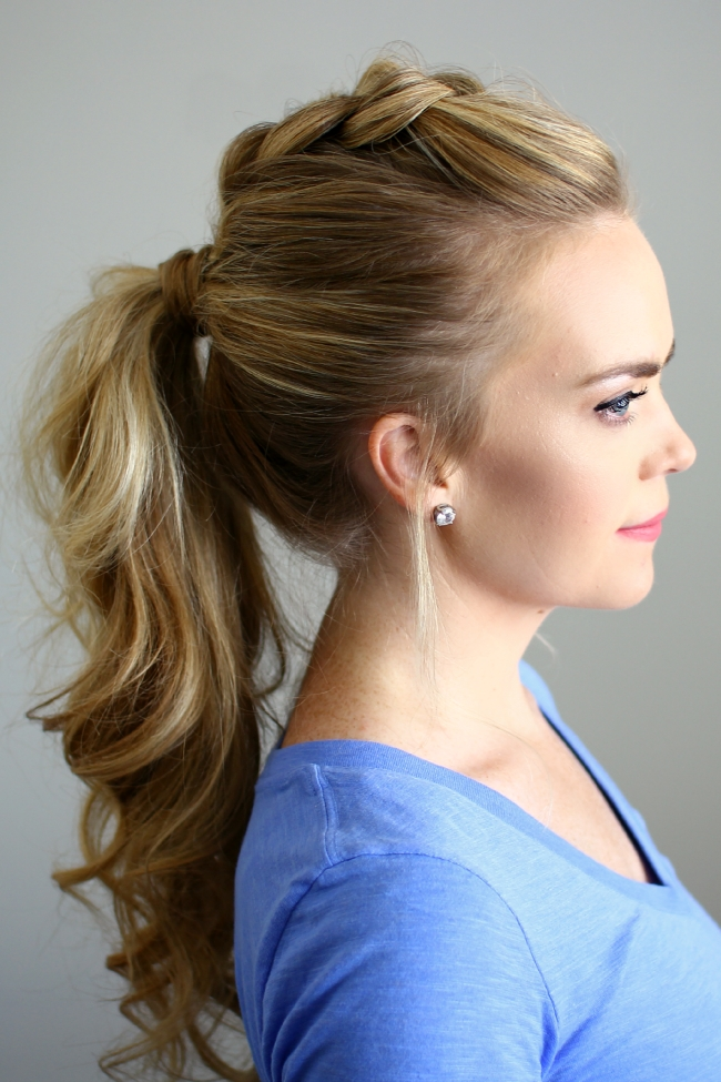 Dutch Mohawk Ponytail Pertaining To Mohawk Braid Into Pony Hairstyles (View 16 of 25)