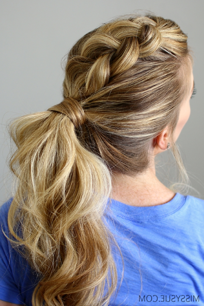 Dutch Mohawk Ponytail regarding Mohawk Braid Into Pony Hairstyles