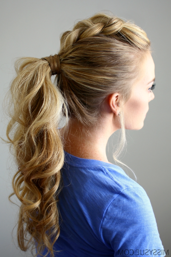 Dutch Mohawk Ponytail Within Mohawk Braid And Ponytail Hairstyles (View 10 of 25)
