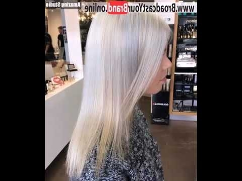 ? Silver Blonde Straight Hairstyle For Thin Hair ? Style – Youtube With Silver Blonde Straight Hairstyles (View 23 of 25)