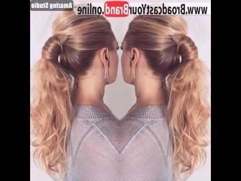 ? Stylish Low Pony With Bump ? Style – Youtube Within Stylish Low Pony Hairstyles With Bump (View 2 of 25)